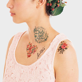 Natural Temporary Tattoos
