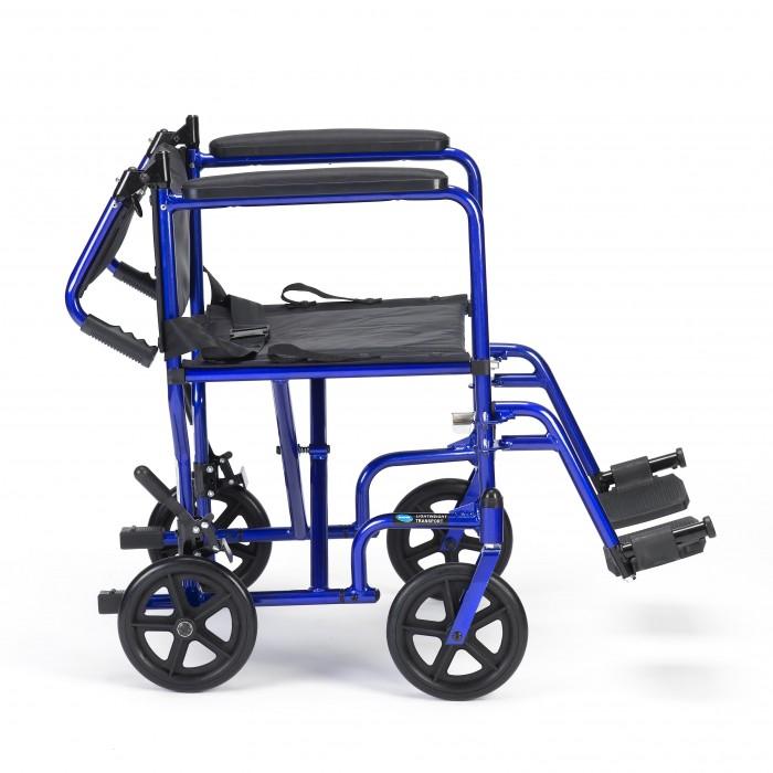 chaise roulante de transport en aluminium de invacare 19. Black Bedroom Furniture Sets. Home Design Ideas