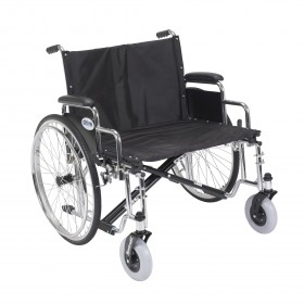 Heavy Duty Wheelchair Sentra EC - Extra Wide - with Detachable Desk Arm