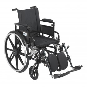 Wheelchair with Flip Back Adjustable Arms Viper Plus GT  - with Various Front Rigging