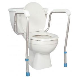 Barre d'appui ajustable pour toilette