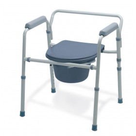 Affordable Folding Commode Chair and Elevated Toilet Seat