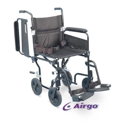 chaise roulante de transport sup rieur airgo comfort plus noir 19. Black Bedroom Furniture Sets. Home Design Ideas