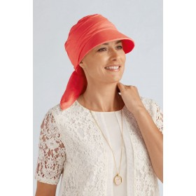 Cancer Hats and Scarf Sun Shield Top Elegance Coral