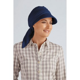 Cancer Hats and Scarf Sun Shield Top Elegance Night Blue