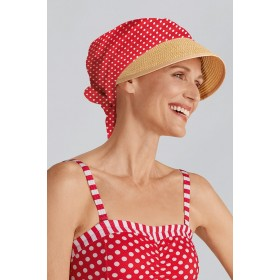 Chemo Cap With Sun Shield Summer Look Red