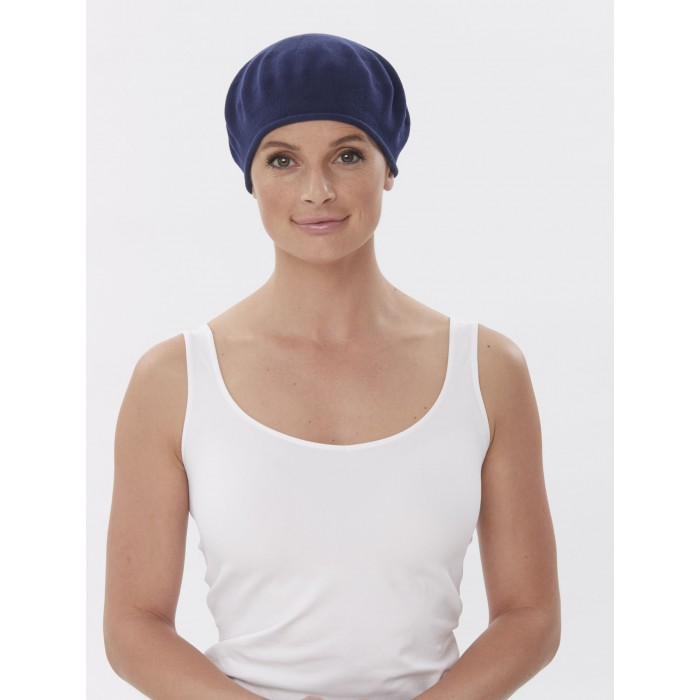 2de44a88f4cf8 Classic Cotton Beret Hat for Cancer Chemo