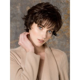 Date Large Women Wig Synthetic Hair Short Wavy by Ellen Wille