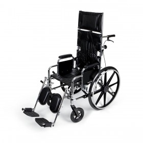 Deluxe Full Recliner Wheelchair Removable Armrests 18