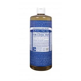 Castile Hands Liquid Soap Organic Peppermint 946ml