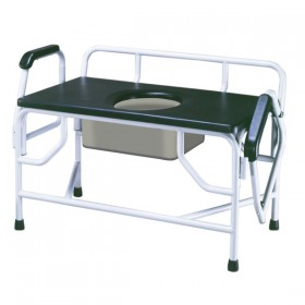 Bariatric Commode Chair for Bedside - 1000 lbs Weight Capacity