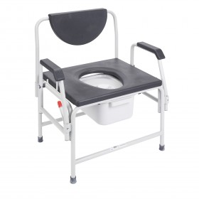 Bariatric Commode Chair for Bedside - 850 lbs Weight Capacity