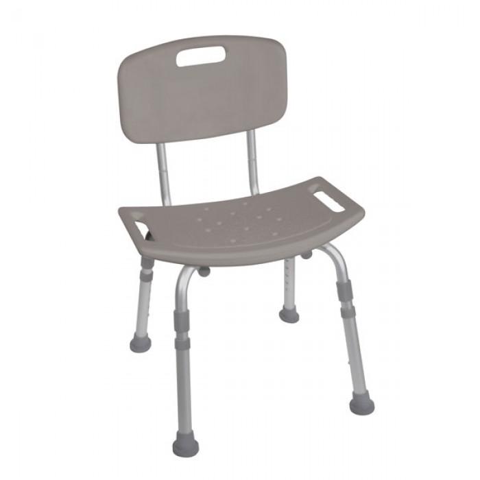chaise pour baignoire ou douche en aluminium avec dossier amovible. Black Bedroom Furniture Sets. Home Design Ideas