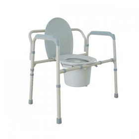Folding Commode Chair for Bedside - Heavy Duty & Bariatric