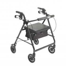 Basic Walker and Rollator at Low Price with Removable Back and Padded Seat