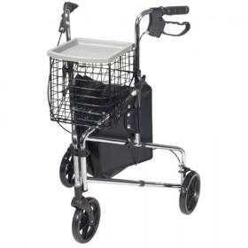 Deluxe 3 Wheels Mobility Walker Rollator for Seniors