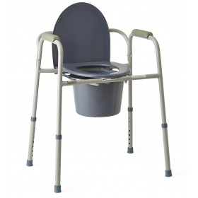 Economy Commode Chair 3 in 1 Steel Lid For Bedroom or Toilet