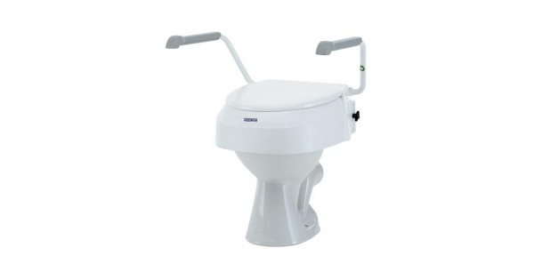 Angle And Height Adjustable Aquatec Raised Toilet Seat