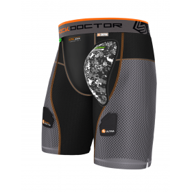 Hockey Shorts Shock Doctor PowerStride with Aircore Hard Cup