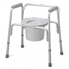 Lightweight Commode Chair Aluminum Frame for Bedside
