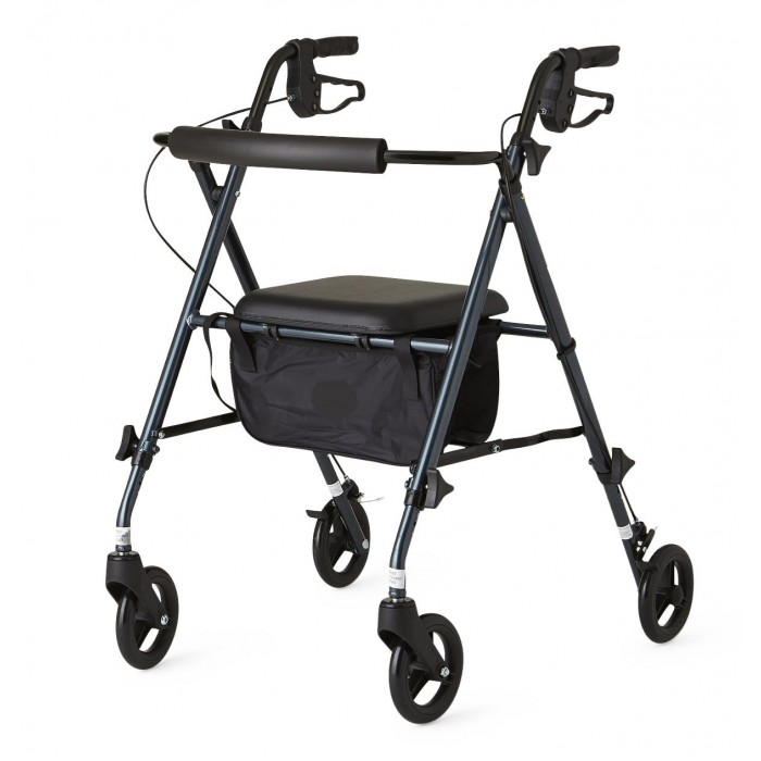 Tremendous Lightweight Rollators Walkers Adjustable Seat Height Blue Bralicious Painted Fabric Chair Ideas Braliciousco