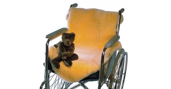 couverture en peau de mouton m dicale pour fauteuil roulant. Black Bedroom Furniture Sets. Home Design Ideas