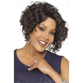 Megan-V Synthetic Hair African American Wigs Short Curly