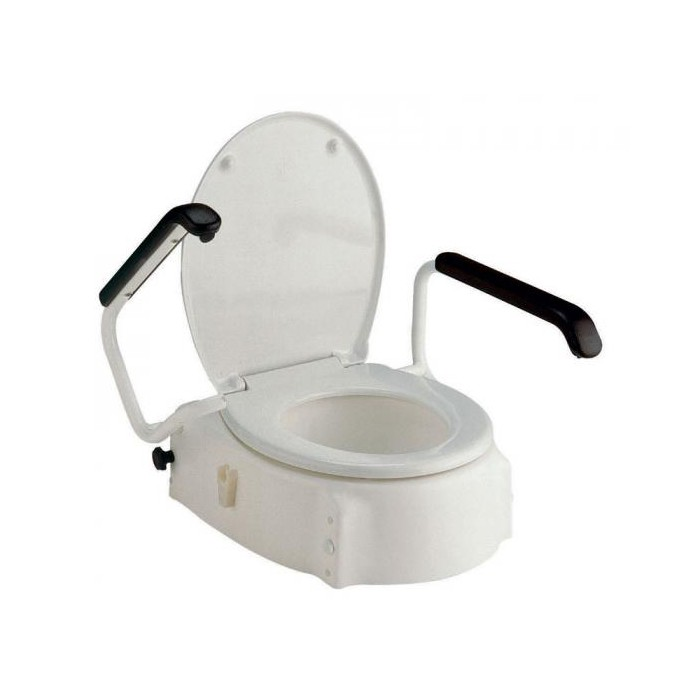 Multi Heights Elevated Toilet Seat For Elongated Toilet Bowl