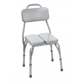 Padded Shower Chair And Bath Chair With Cushioned Backrest