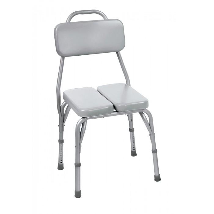 chaise pour le bain et banc de douche rembourr avec dossier. Black Bedroom Furniture Sets. Home Design Ideas