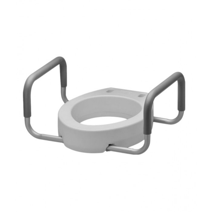 Toilet Seat Riser With Arms.Raised Toilet Seat 4 Standard Bowl Padded Arms For Seniors