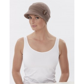 Sentinel Buckle Peak Cotton Hat for Chemo Hair Loss