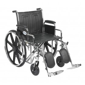 Heavy Duty Wheelchair Sentra EC with Various Arm Styles - 450 pounds Capacity