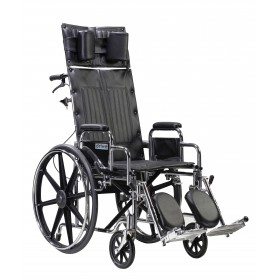 Full Reclining Wheelchair Sentra with Various Arm Styles and Elevating Leg rest
