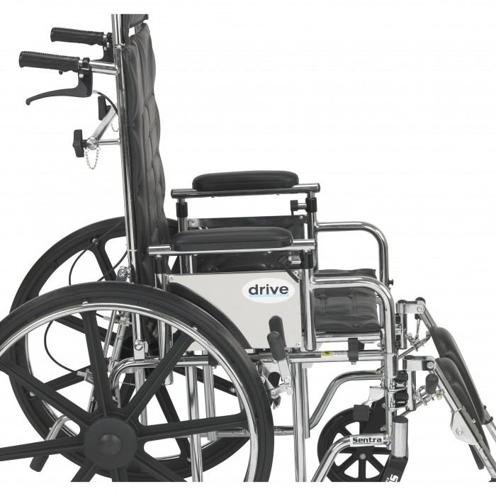 Full Reclining Wheelchair Sentra With Various Arm Styles