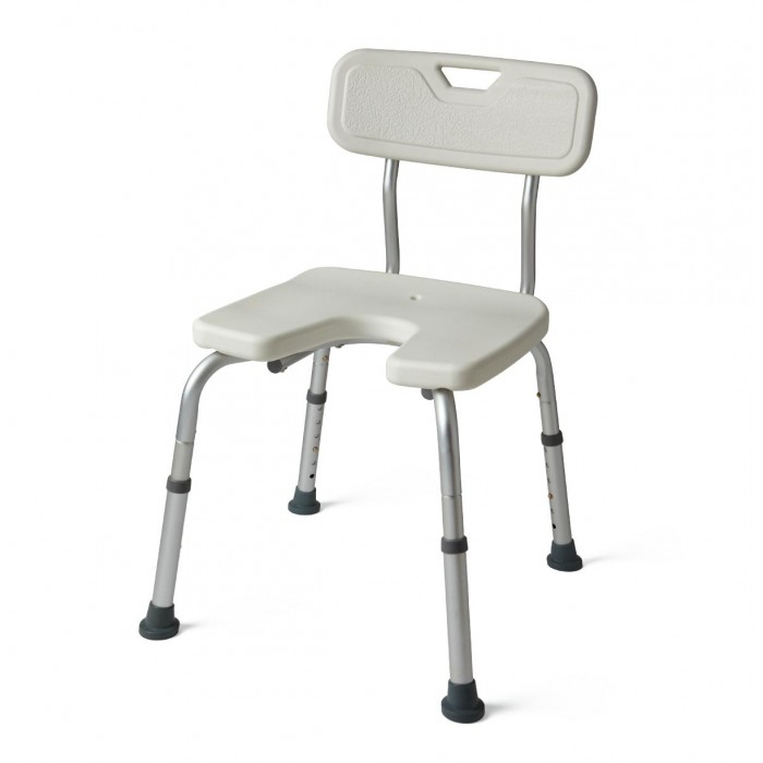 Shower Chair Backrest With Perineal Opening For easy Cleaning