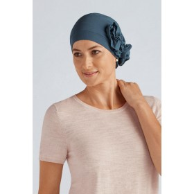 A Stylish Lady Bamboo Cancer Headwear Blue ab2d92ac0b20