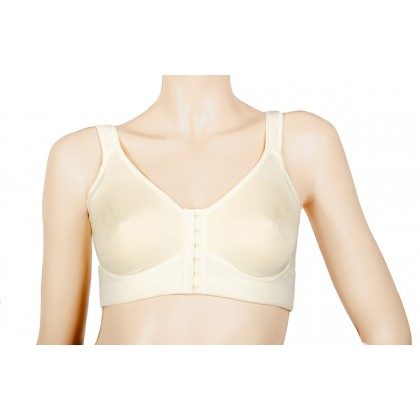 Soft surgical bra for breast cancer with breast forms pockets, for radiation therapy or Mastectomy