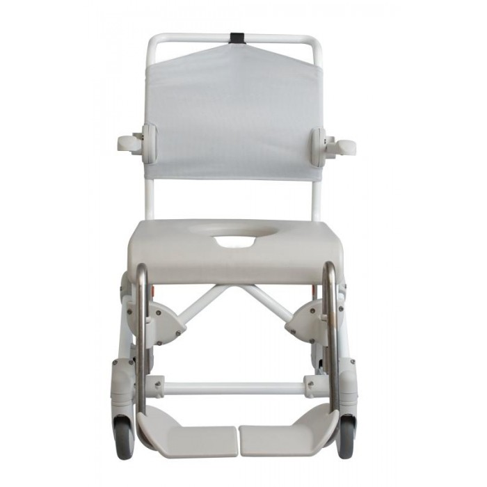 "Swift Mobile Shower and Toilet Chair with 24"" Rear Wheels"
