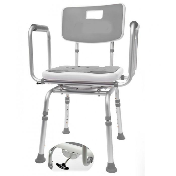 chaise pour le bain et banc de douche pivotant coussin. Black Bedroom Furniture Sets. Home Design Ideas