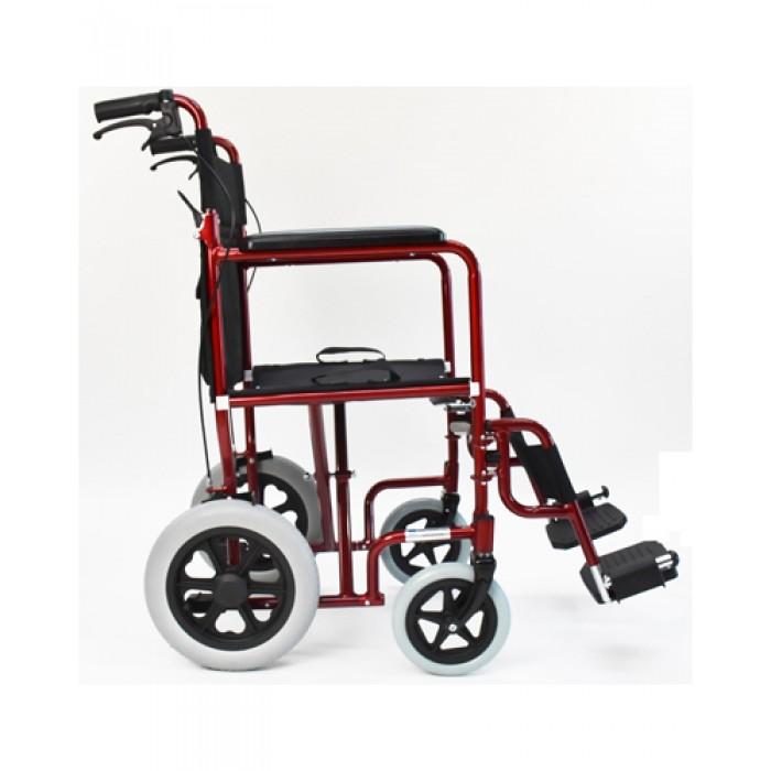 chaise de transport personne ag e l g re tout terrain rouge 18. Black Bedroom Furniture Sets. Home Design Ideas