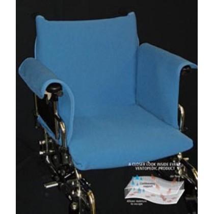 ventopedic couverture coussin e pour fauteuil roulant avec repose bras noir. Black Bedroom Furniture Sets. Home Design Ideas