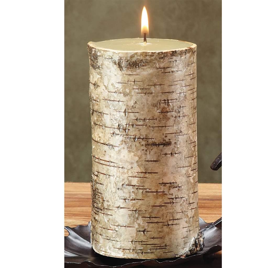 Birch Bark 3x6 Pillar Candle
